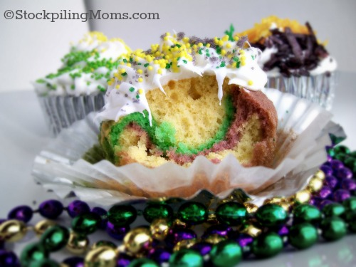 Best Mardi Gras Cupcakes to celebrate Fat Tuesday!