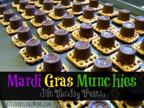 Mardi Gras Munchies are the perfect treat to help celebrate Fat Tuesday!
