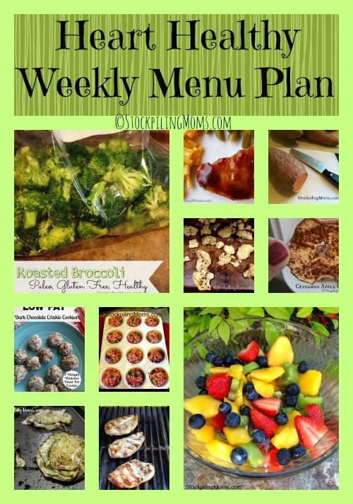 Here is our Heart Healthy Weekly Menu Plan to make dinners easy and save time and money in the kitchen this week!