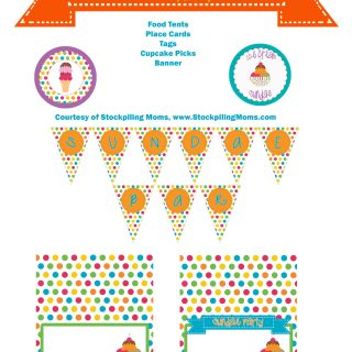 Free Sundae Party Printables