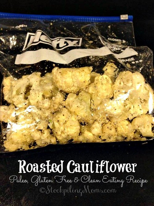 Roasted Cauliflower is a great Paleo and Gluten Free side dish recipe that you can prepare in 30 minutes!