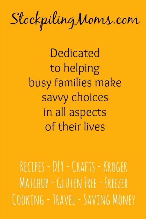 Stockpiling Moms - Dedicated to helping busy families make savvy choices in all aspects of their lives