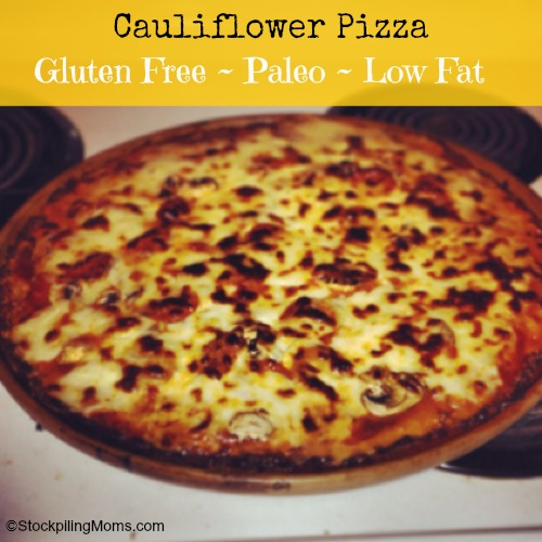 Cauliflower Pizza – Keto Friendly