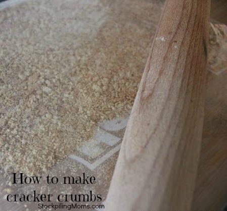 how to make cracker crumbs