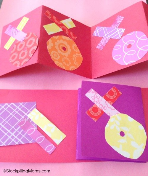 Easy Hugs Kisses Valentine Card – Construction Paper Valentine Cards