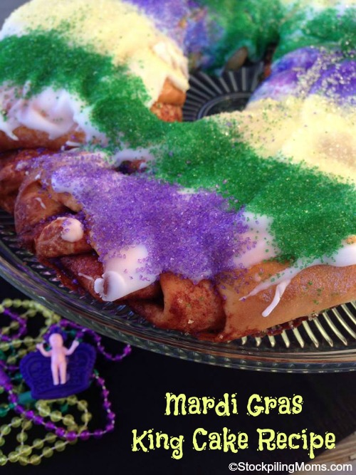 Mardi Gras Kings Cake Recipe - No Fat Tuesday Celebration is complete without it!