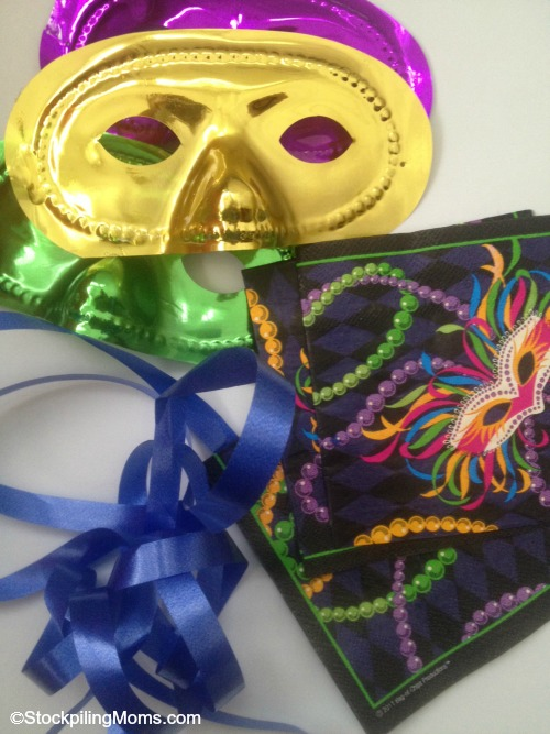 Mardi Gras Party Banner - Love this easy to make decoration that costs only $2 to create!