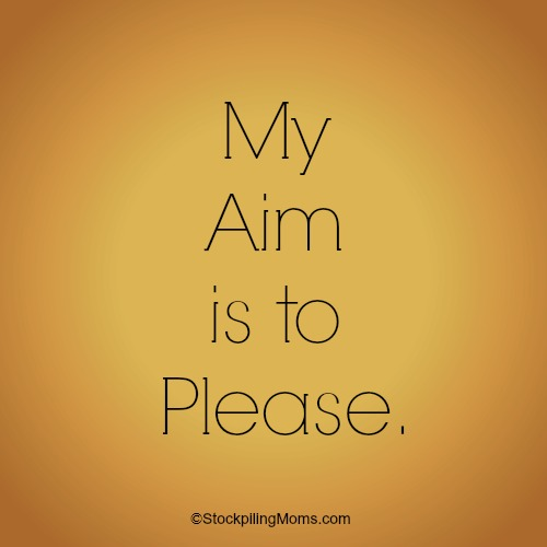 My Aim is to Please. Life lessons taught to me from my great Aunt and why I am the Aunt I am today.