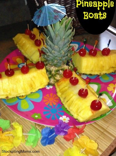 Pineapple Boats are perfect for your next luau.