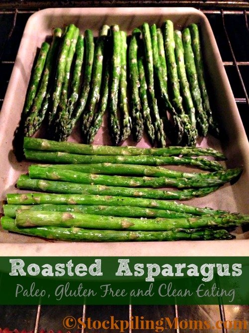Roasted Asparagus is great paleo, gluten free side dish recipe!