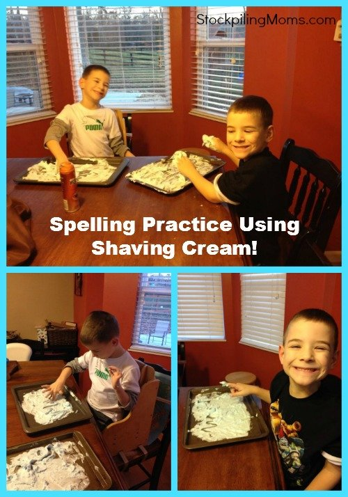 Sensory Spelling Practice Idea - Use Shaving Cream
