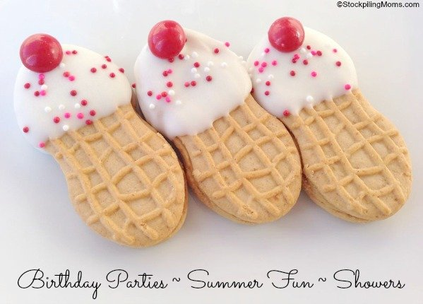 Ice Cream Cone Cookies are so easy to make!  Perfect for your next Ice Cream Sundae Party!