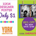 Custom Poster for only $1 from York Photo
