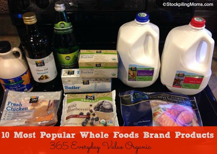 10 Most Popular Whole Foods Brand Products