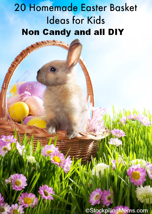 20 Homemade Easter Basket Ideas for Kids (Non Candy and all DIY). These are great when you are on a budget.