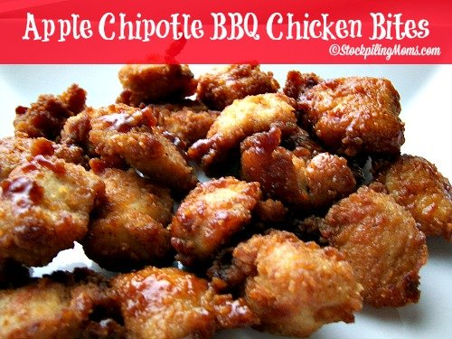 Apple Chipotle BBQ Chicken Bites are scrumptious and easy to make!