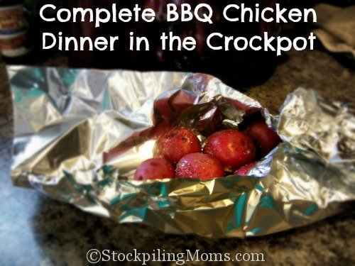 Complete BBQ Chicken Dinner in the Crockpot is an easy way to have a complete dinner at your fingertips without a lot of work!