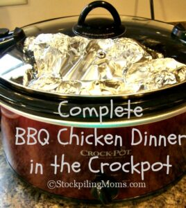 BBQ Chicken Dinner in the Crockpot6