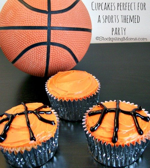 Homemade Basketball Cupcakes are perfect for March Madness or a basketball themed party!