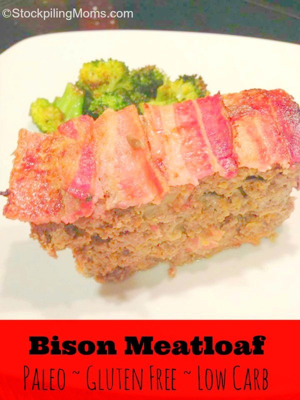 This Paleo Meatloaf is so good! Of course you can't go wrong with bacon!