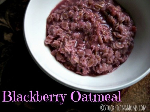 Blackberry Oatmeal is a great way to start your day!
