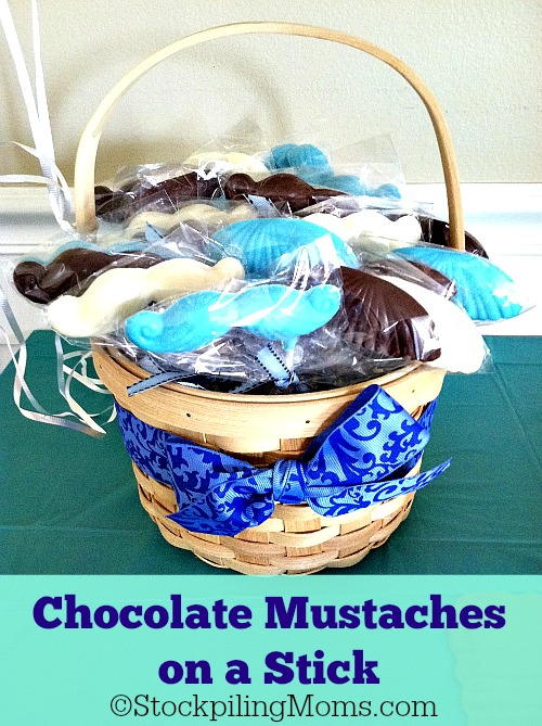 Chocolate Mustaches on a Stick