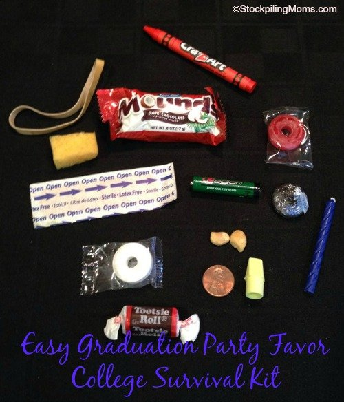 This College Survival Kit is perfect for Graduation parties!