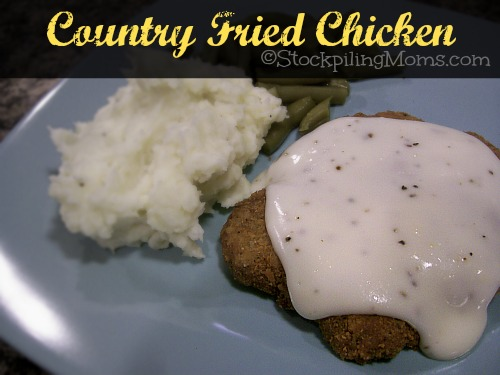 Country Fried Chicken with Gravy is a delicious southern comfort meal! Only 8 ingredients needed!