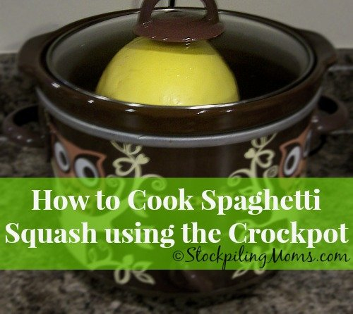 This Crockpot Spaghetti Squash Recipe is an easy way to prepare this low carb vegetable.