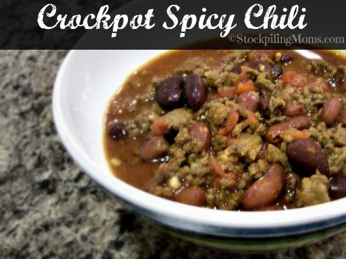 Crockpot Spicy Chili is the perfect slow cooked chili recipe ever! #crockpot #chili #slowcooker #spicy