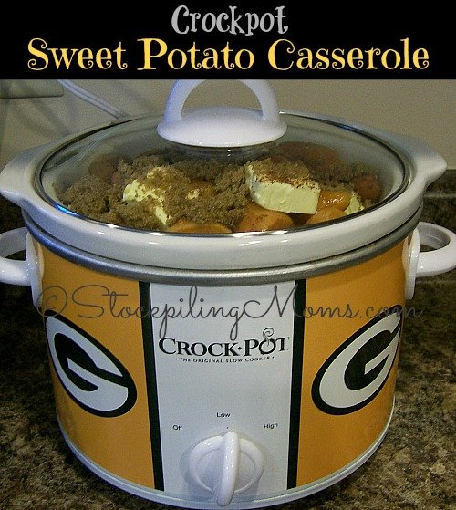 Crockpot Sweet Potato Casserole is perfect for holidays or Sunday dinner! Our family loves this recipe for Thanksgiving and it is so easy to make.