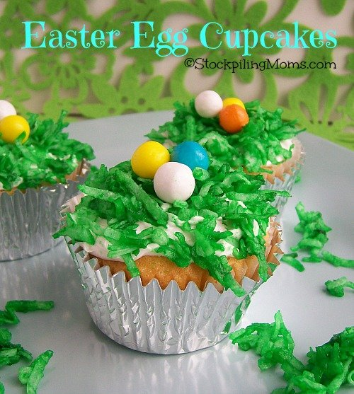 Easter Egg Cupcakes are the perfect dessert! #easter