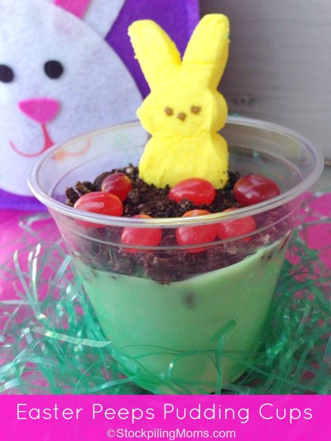 Easter Peeps Pudding Cups are easy to prepare and perfect for portion control and serving!