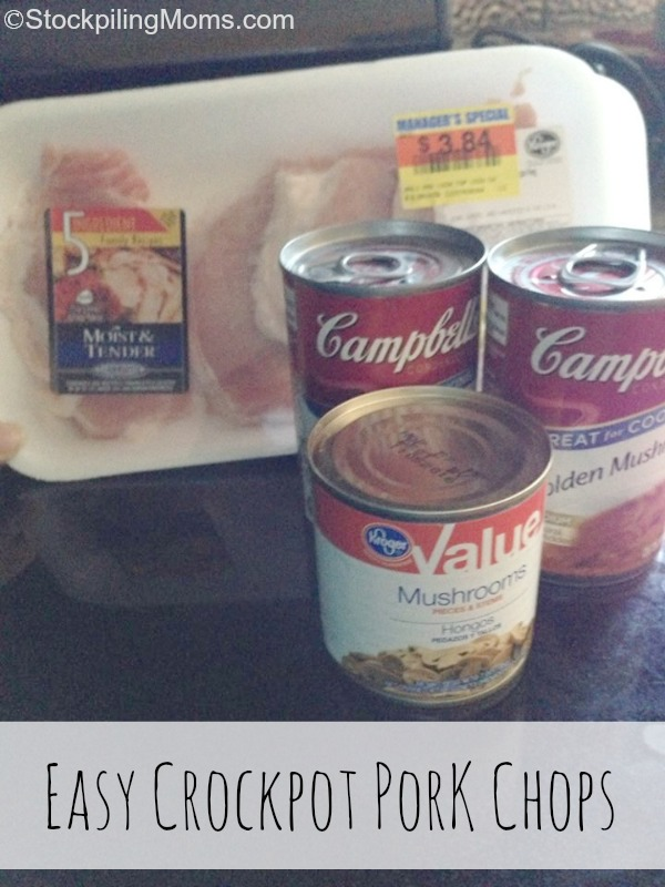 These Easy Crockpot Mushroom Pork Chops are simple to make and taste delicious!