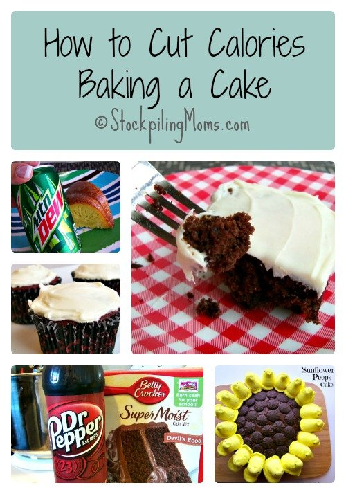 How to Cut Calories when Baking a Cake Collage