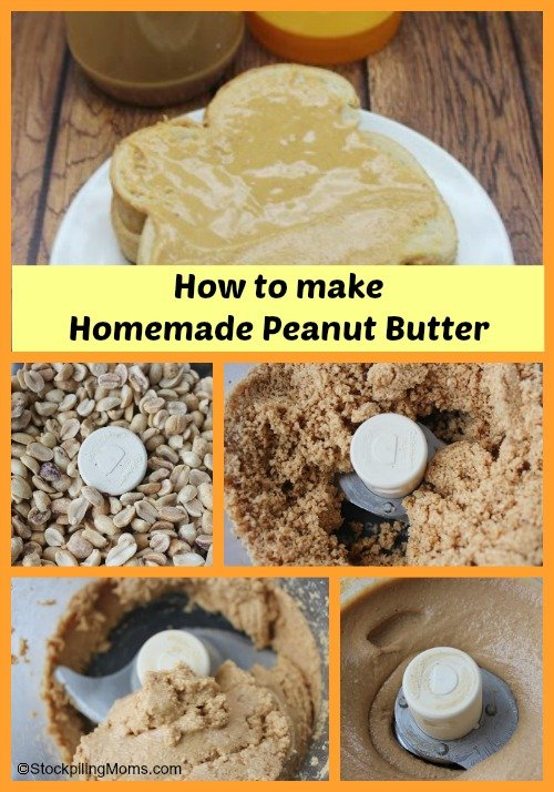 How to make homemade Peanut Butter - Love this easy recipe you can make at home.