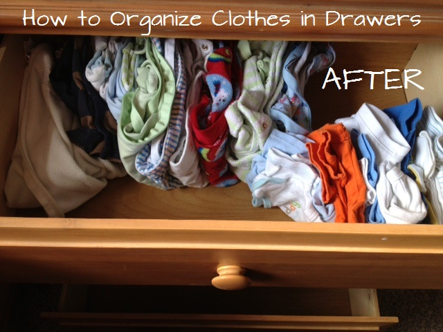 How to organize your clothes in dressers