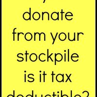 If you donate from your stockpile is it tax deductible