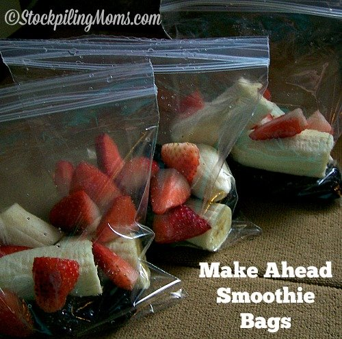 Make Ahead Smoothie Bags are the best way to prep your smoothies for the week! #smoothie