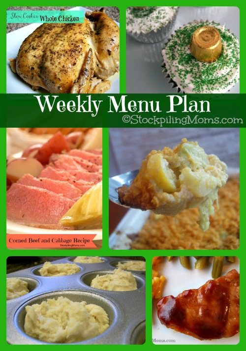 ©StockpilingMoms.com Weekly Menu Plan featuring delicious dinner meals!