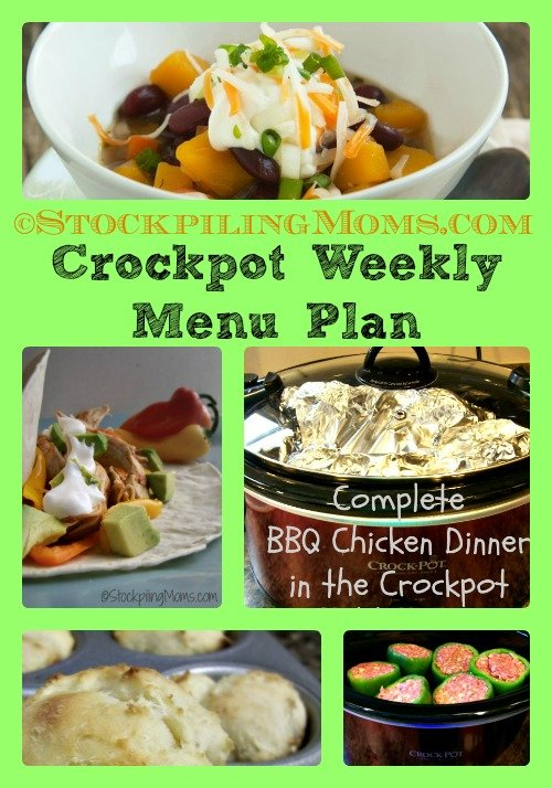 Crockpot Weekly Menu Plan #crockpot #slowcooker