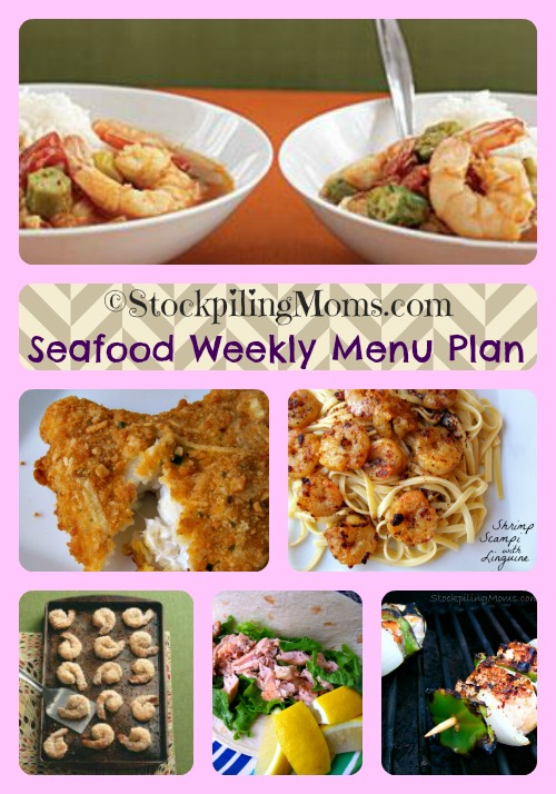 Seafood Weekly Menu Plan is perfect for Lent!