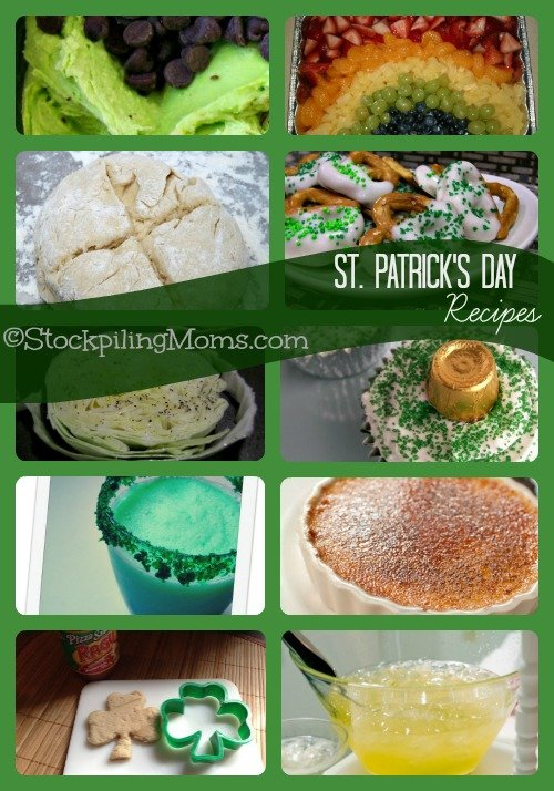 St. Patrick's Day Recipes Collage