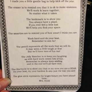 Teacher Back To School Welcome Bag for Students