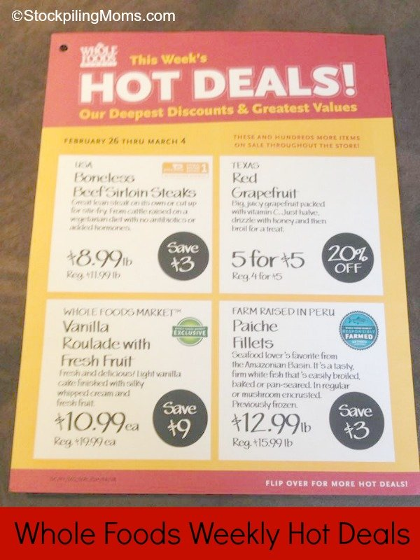 Whole Foods Weekly Hot Deals
