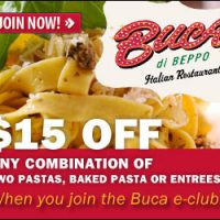 Buca and Blimpie Coupons