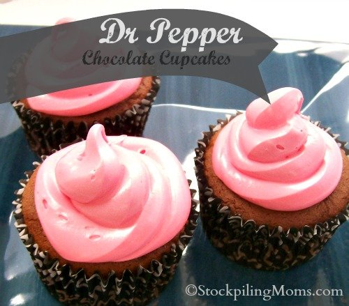 Dr Pepper Chocolate Cupcakes