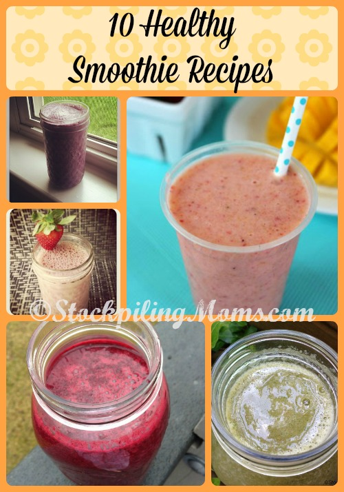 10 Healthy Smoothie Recipes that taste great and are simple to make! #smoothie #paleo #cleaneating #glutenfree