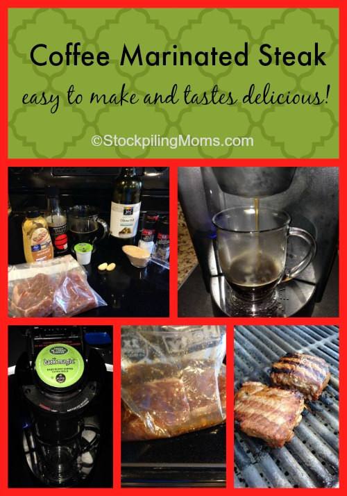 Coffee Marinated Steak easy to make and tastes delicious!