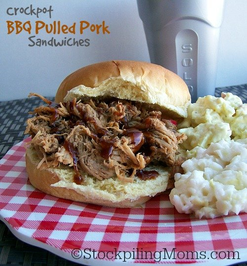 Crockpot BBQ Pulled Pork Sandwiches are so easy to make and perfect for a family party or gathering.
